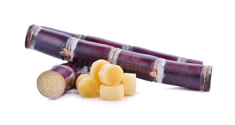 Trzcina cukrowa odizolowywająca na białym tle zdjęcia stock