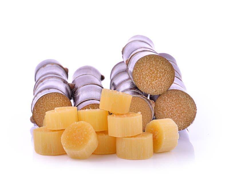 Trzcina cukrowa odizolowywająca na białym tle zdjęcia royalty free