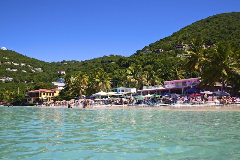 Trzcina ogródu zatoka, Tortola, BVI obrazy stock