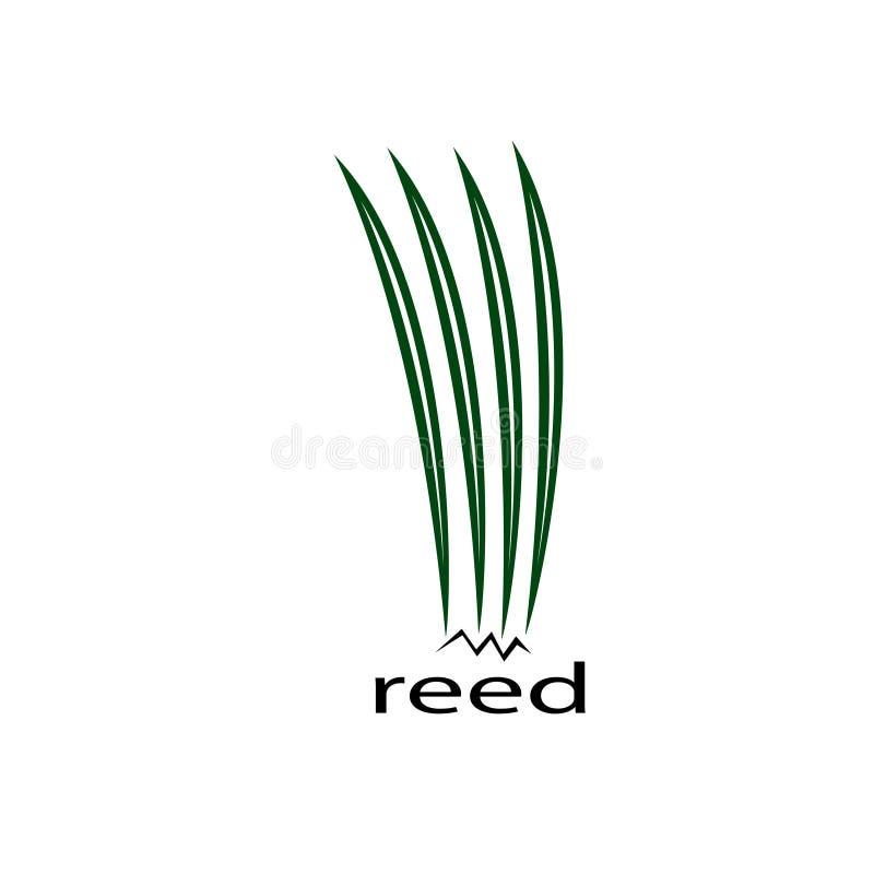 Trzcinowa logo sztuka royalty ilustracja