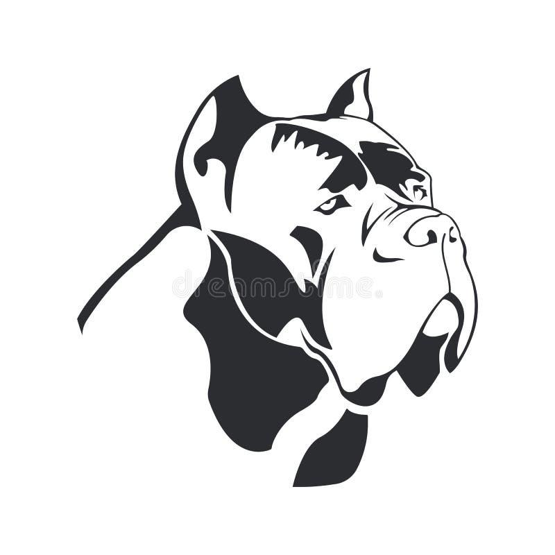 Trzciny Corso psa logo zdjęcia royalty free