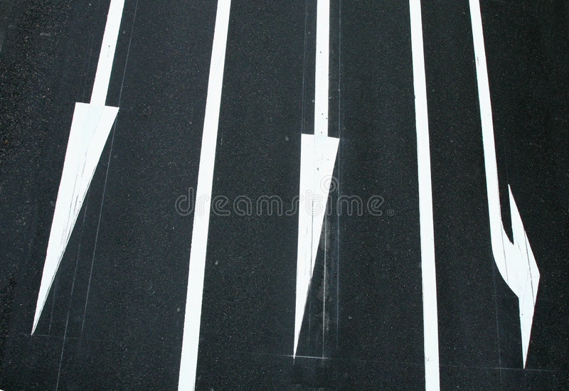 trzech kierunków ruchu, zdjęcia stock
