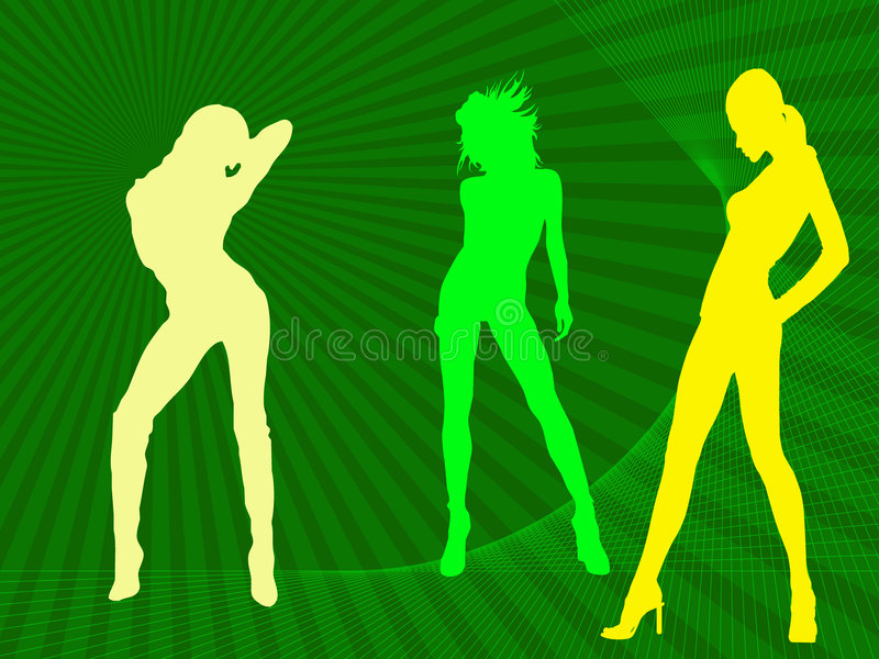 trzech modeli ilustracja wektor