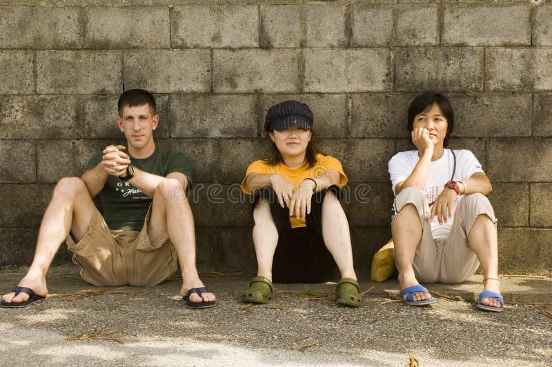 trzech przyjaciół obraz royalty free