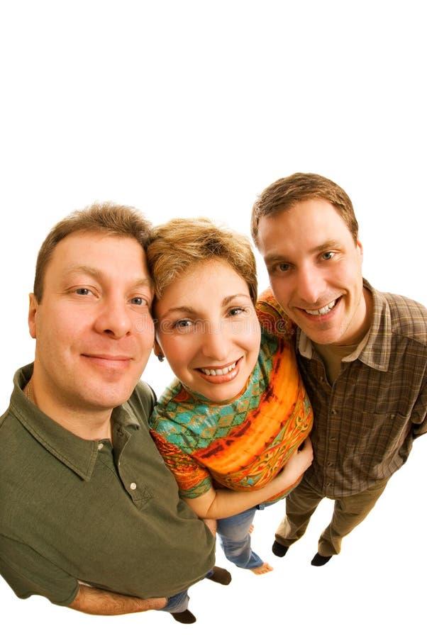 trzech przyjaciół zdjęcie stock