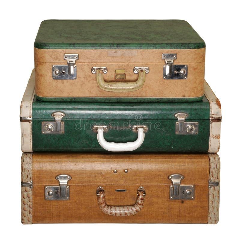 trzech przypadków rocznik podróży zdjęcie royalty free