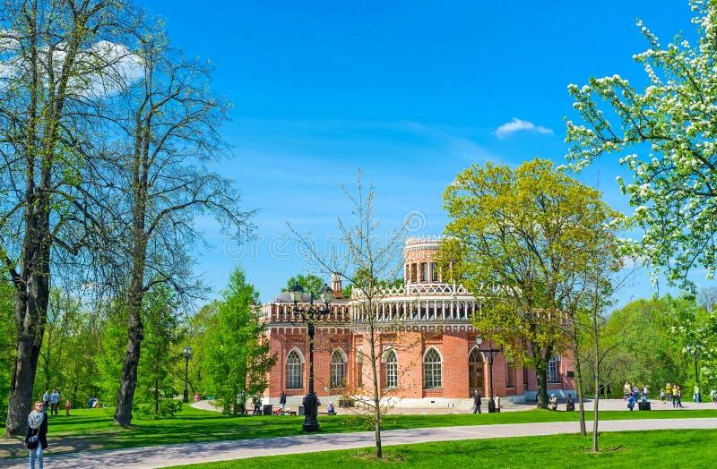 Trzeci kawaleria budynek w Tsaritsyno zdjęcia stock