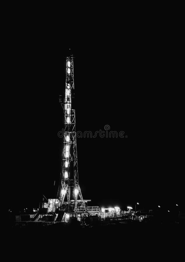 Trzeci wierza na wieży wiertniczej zdjęcia royalty free