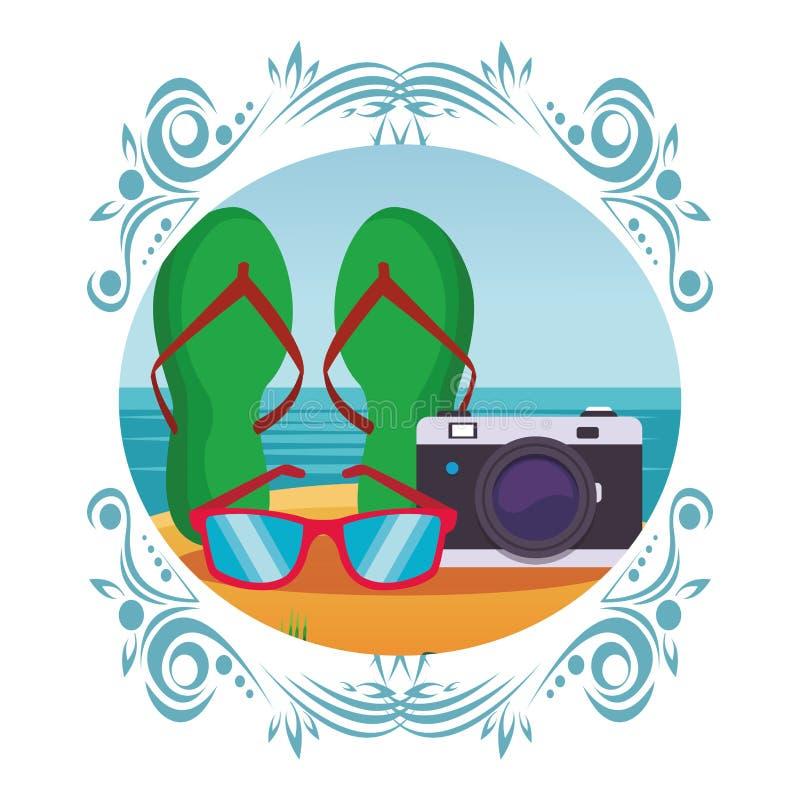 Trzepnięcie kamera i klapy ilustracji