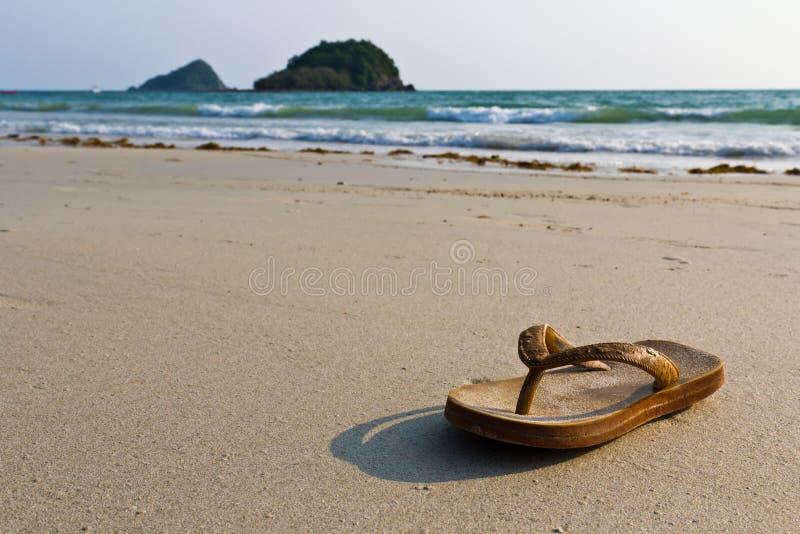 trzepnięcie plażowe klapy obraz stock