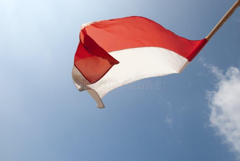 Trzepotliwa flaga w słońcu zdjęcia royalty free