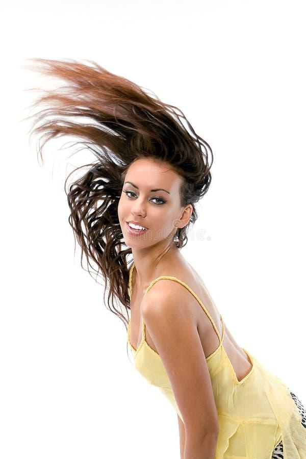 trzepotliwy włosy g - girl. obrazy stock