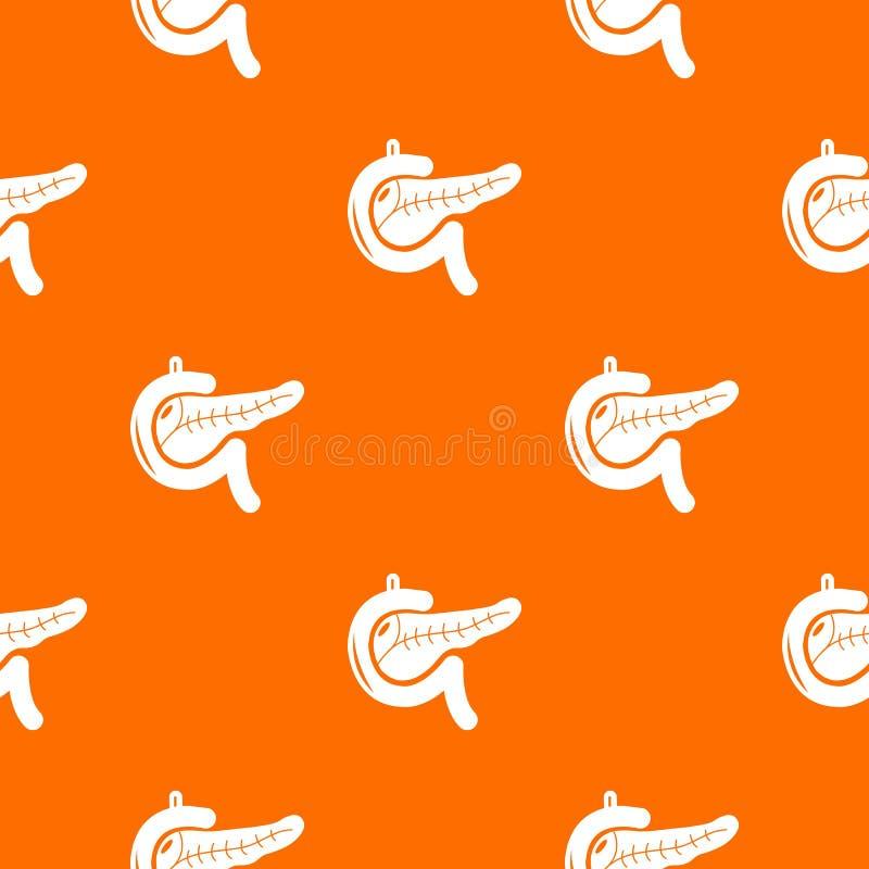 Trzustki deseniowa wektorowa pomarańcze ilustracji