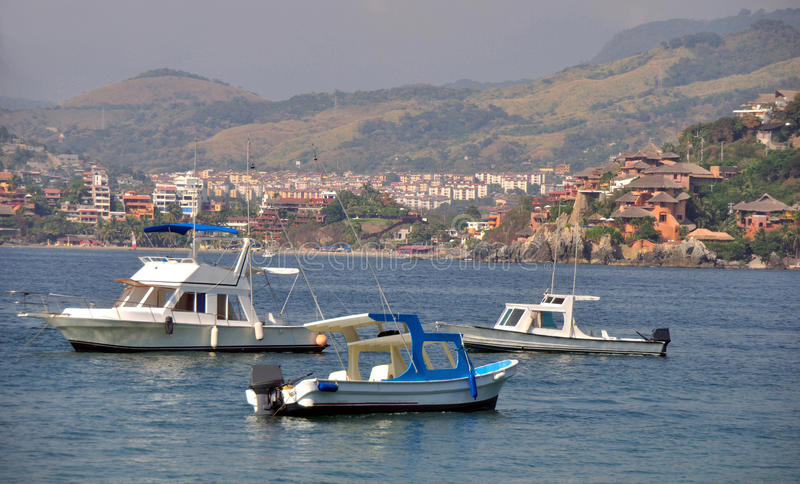 Trzy łodzi rybackiej obrazy royalty free