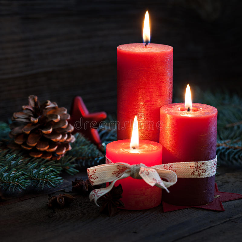 Trzy świeczki zdjęcia royalty free