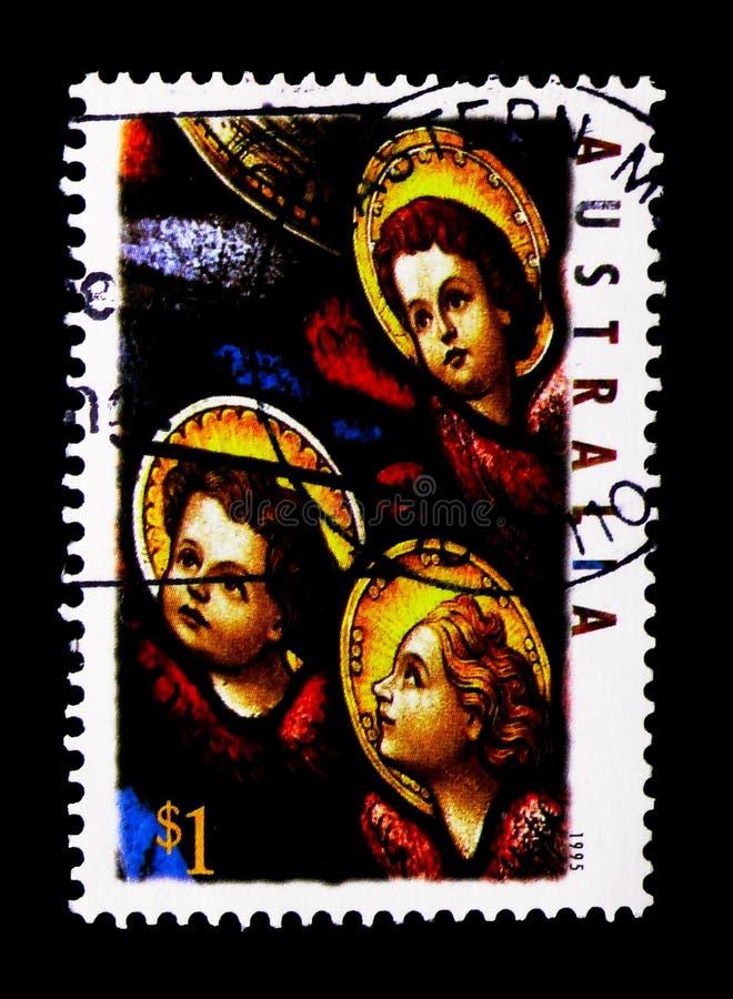Trzy anioła - boże narodzenia, seria, około 1995 zdjęcia stock