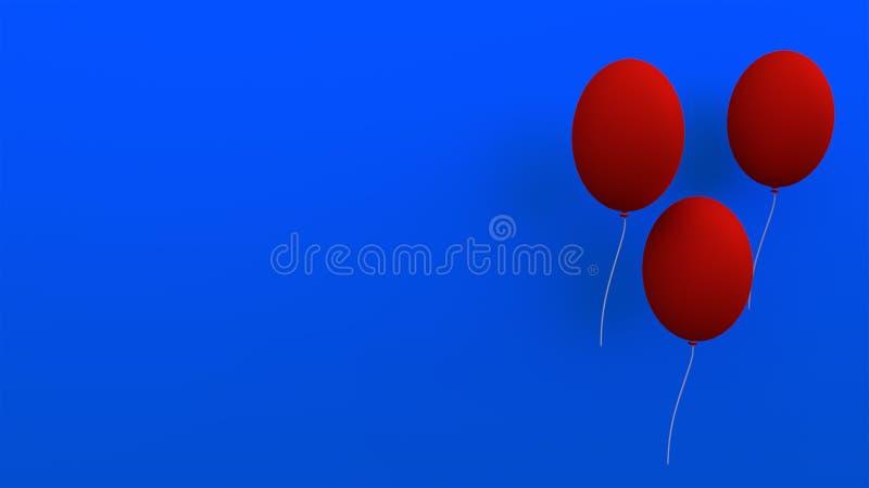 Trzy ballons świadczenia 3 d zdjęcia stock