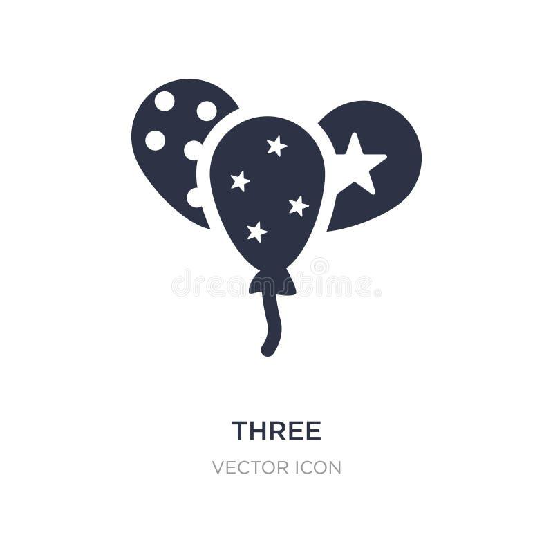 trzy balonów ornamentacyjna ikona na białym tle Prosta element ilustracja od Partyjnego pojęcia royalty ilustracja