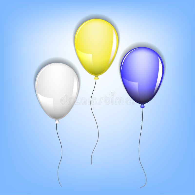 Trzy balonu ilustracja wektor