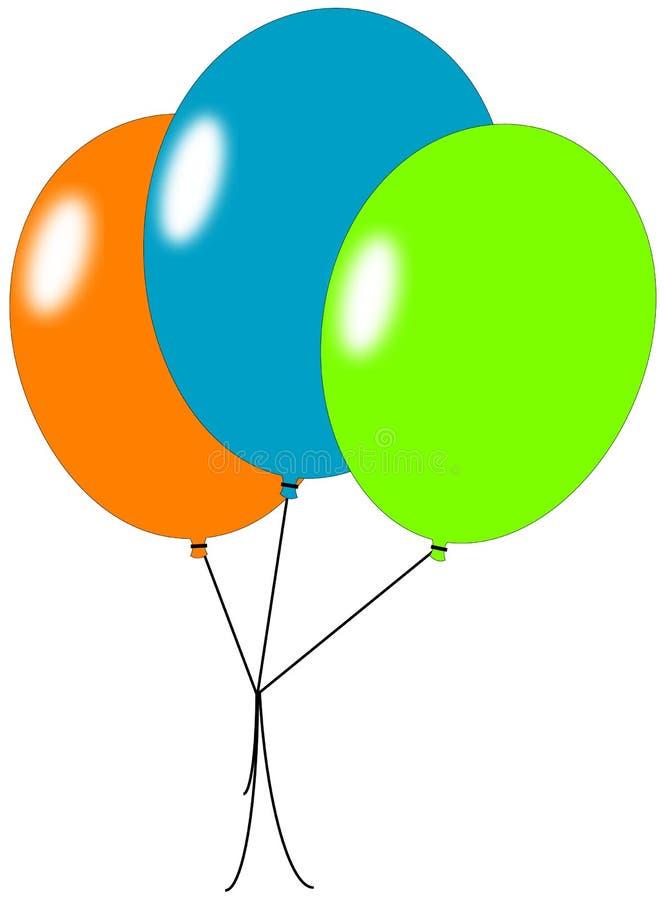 trzy balony ilustracja wektor