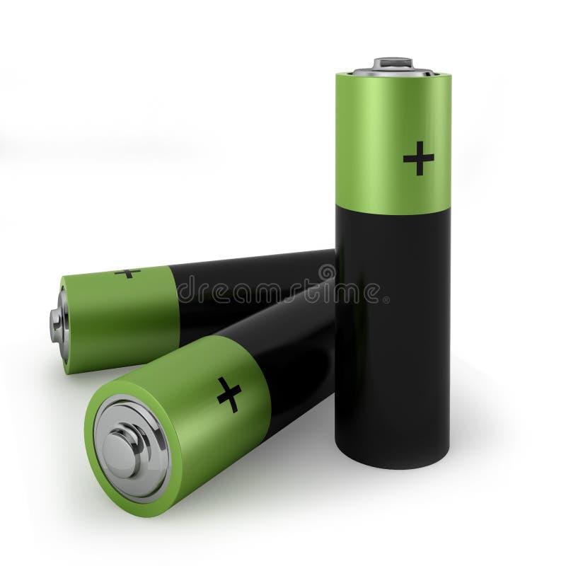 Trzy baterii royalty ilustracja