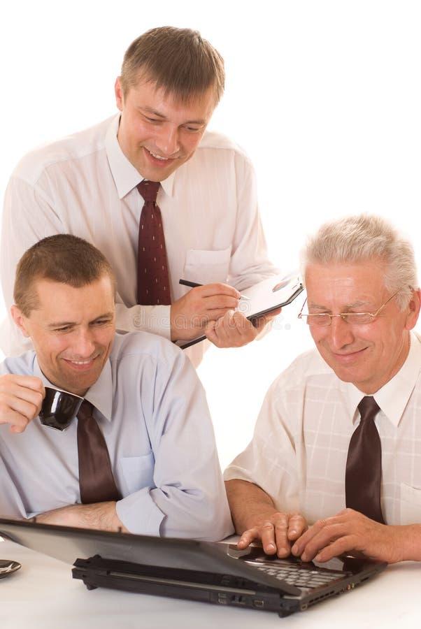 Trzy biznesmenów target452_1_ obraz royalty free