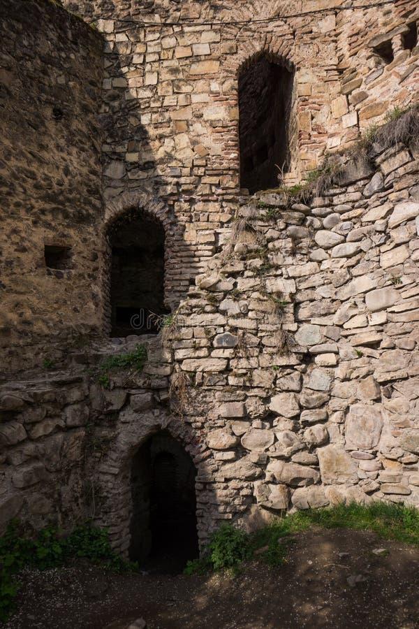 Trzy drzwi w obrony ściany ruinie zdjęcia royalty free