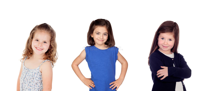 Trzy dzieci szczęśliwa dziewczyna zdjęcie royalty free