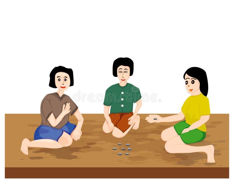 Trzy dziewczyn kreskówki kształt ilustracja wektor