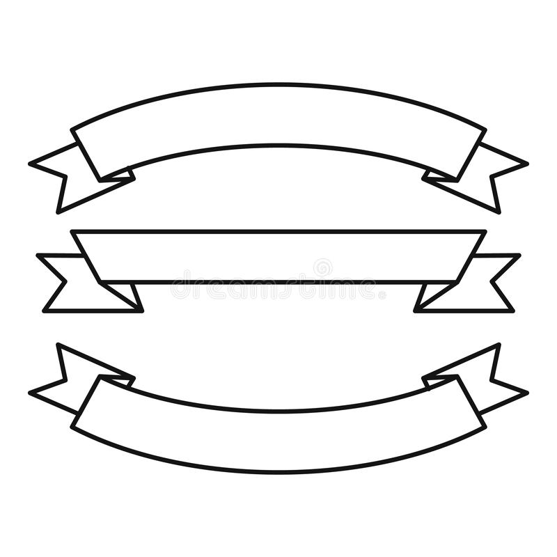 Trzy faborków ikona, konturu styl royalty ilustracja