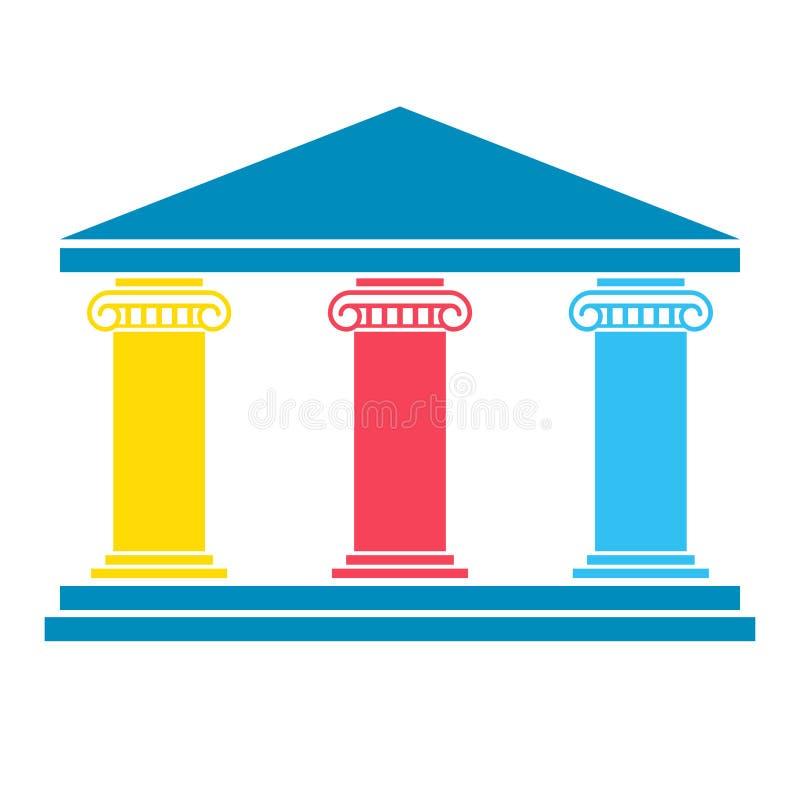 Trzy filarów diagram royalty ilustracja