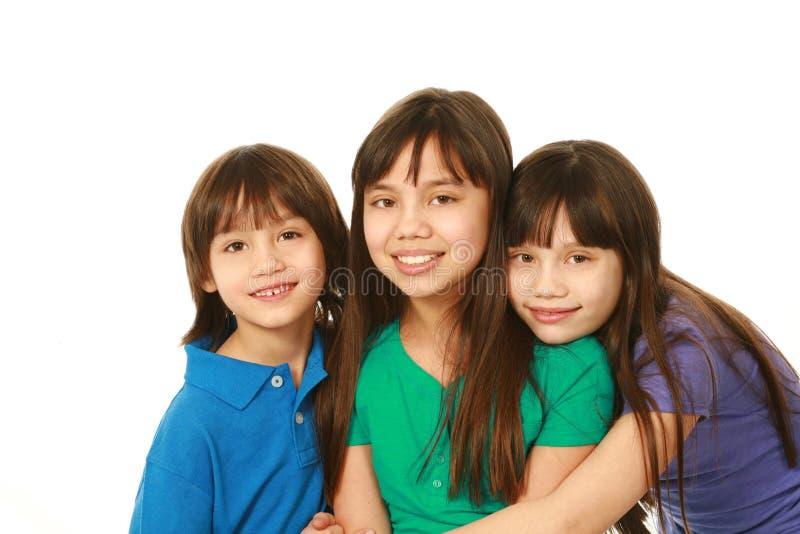 Trzy filipińskiego dziecka fotografia stock