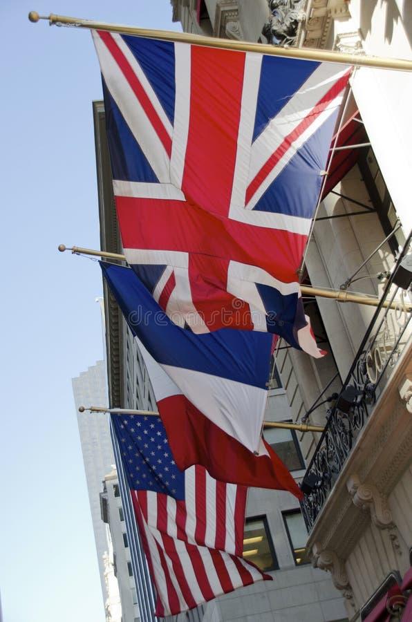 Trzy flaga zdjęcia stock