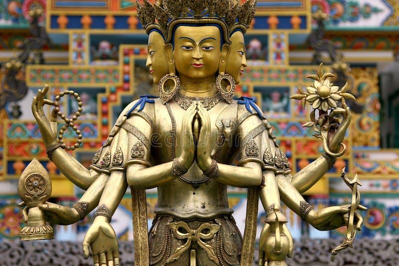 Trzy głowiasty Buddha obraz stock