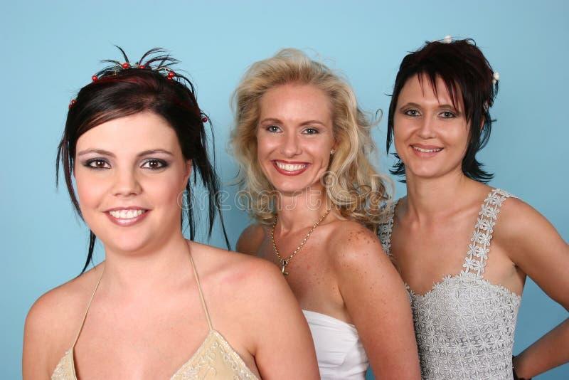 trzy grupy kobieta obrazy royalty free