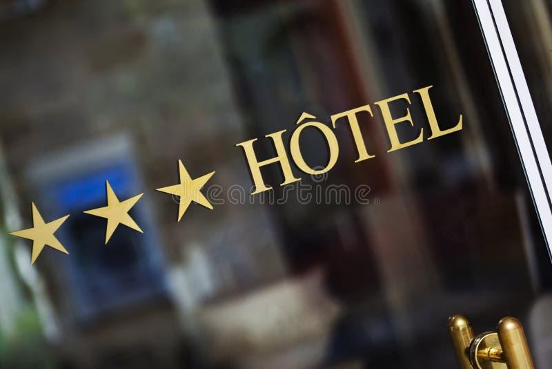 Trzy gwiazdy hotelowej obraz stock