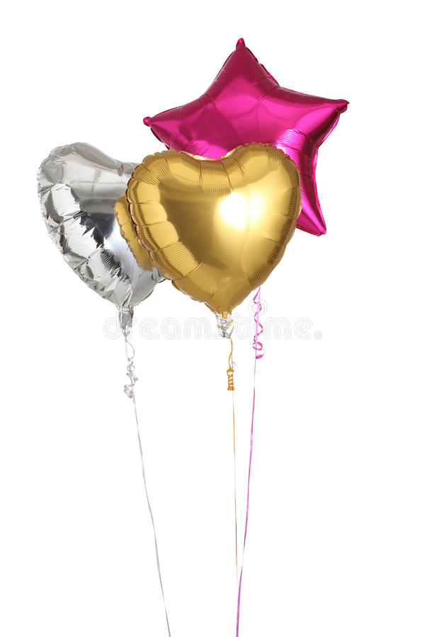 Trzy helowego balonu zdjęcia stock