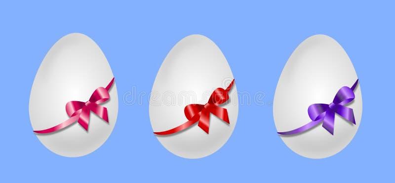 trzy jajka wielkanoc ilustracja wektor