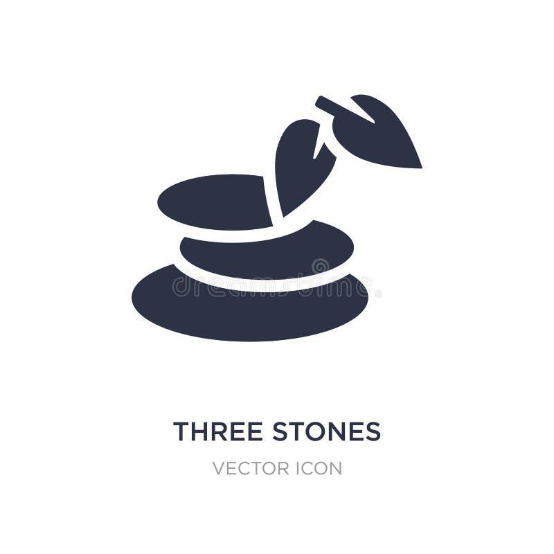 trzy kamieni ikona na białym tle Prosta element ilustracja od piękna pojęcia ilustracja wektor