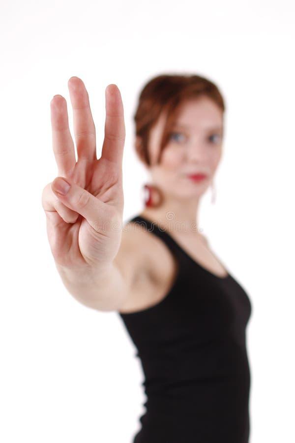 trzy kciuka fotografia royalty free
