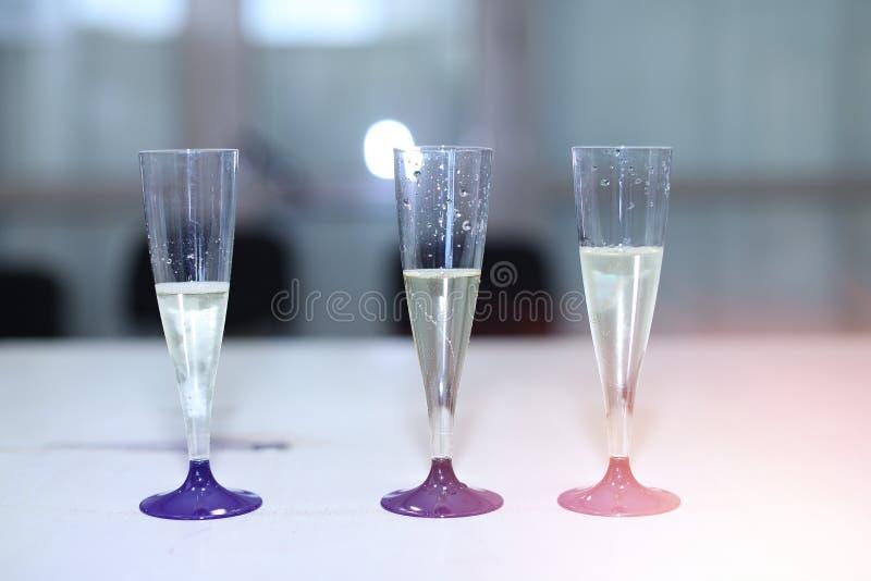 trzy kieliszki szampana obrazy royalty free
