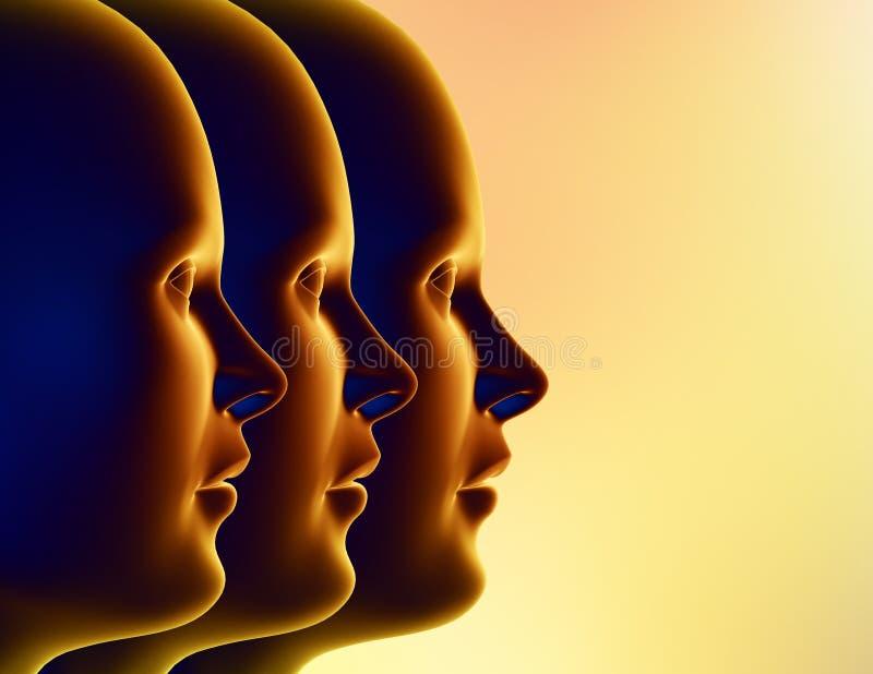Download Trzy kobiety ilustracji. Ilustracja złożonej z pomysł, samotnie - 141403