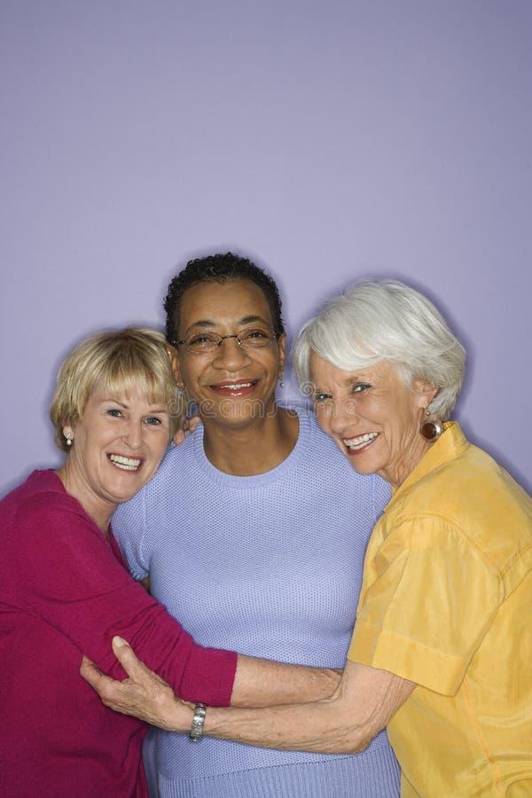 trzy kobiety portret zdjęcia royalty free