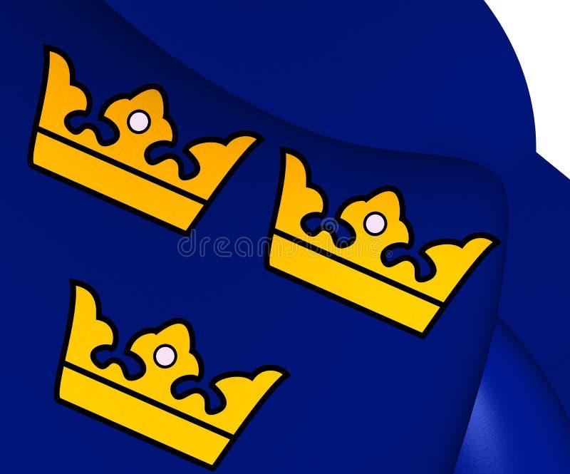 Trzy korony Szwecja royalty ilustracja