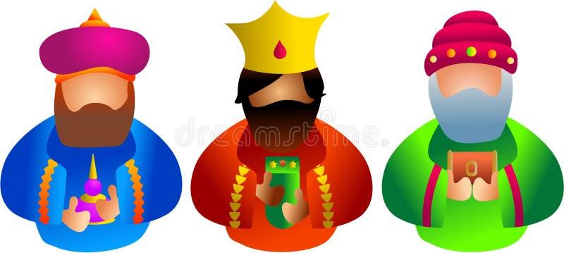 trzy króla royalty ilustracja