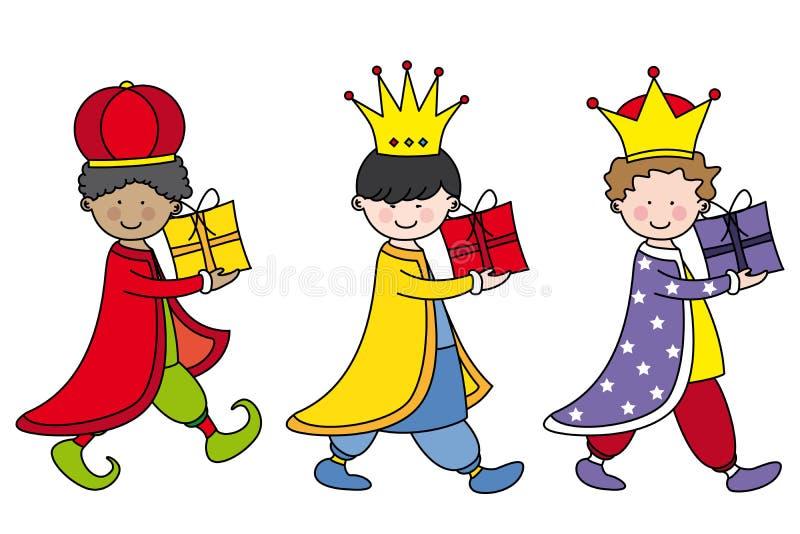 Trzy Królewiątka royalty ilustracja