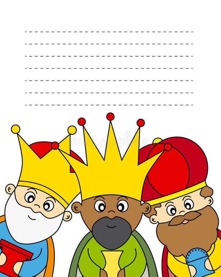 Trzy królewiątka ilustracji