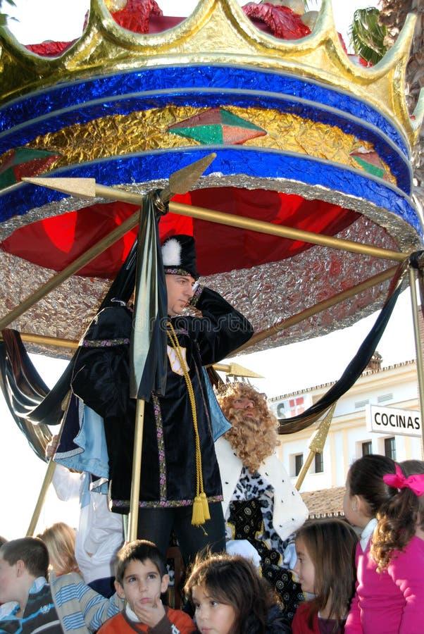 Trzy królewiątka Paradują, los angeles Cala de Mijas, Hiszpania obraz royalty free