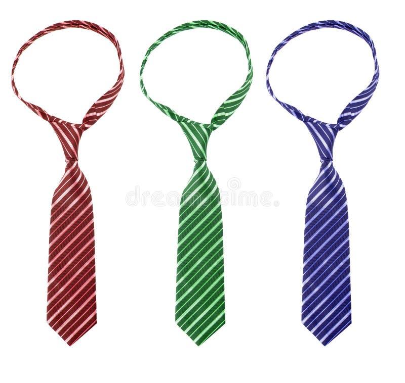 trzy krawat zdjęcia stock