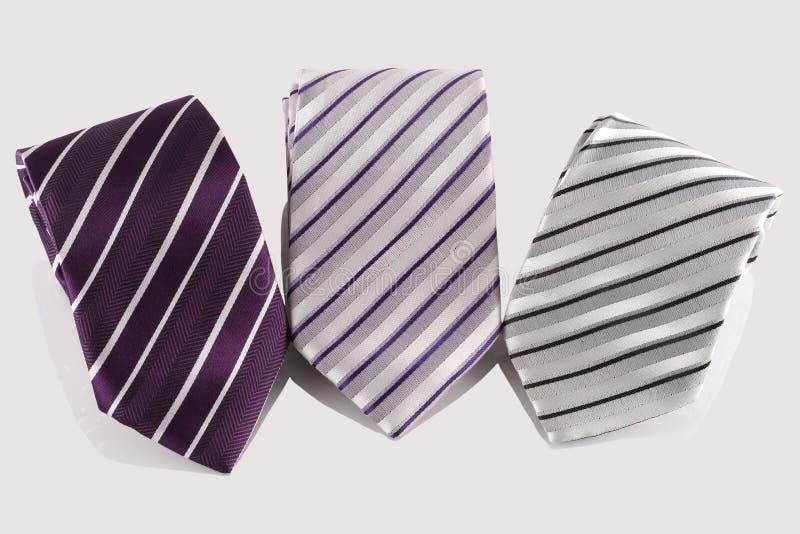 trzy krawat obraz stock